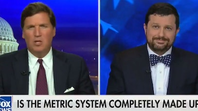 Tucker Carlson on the metric system