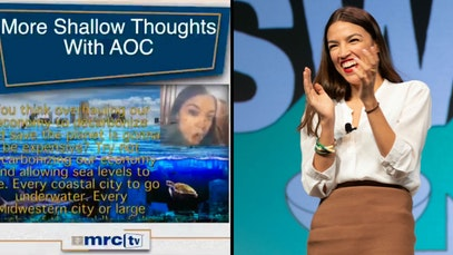 AOC and conservative attack ad calling her shallow for talking about climate change costs