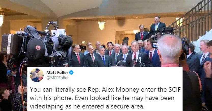 Republicans announcing that they're going to crash a secure SCIF hearing
