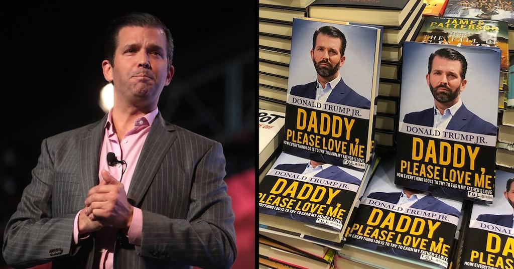 donald trump jr daddy please love me book cover swap