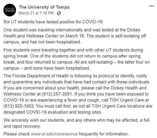 University of Tampa post
