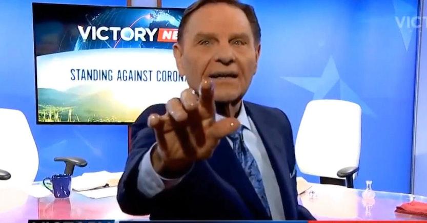 Kenneth Copeland on his televangelist show
