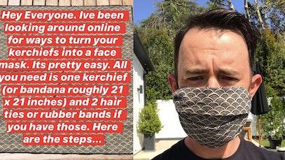 colin hanks face mask