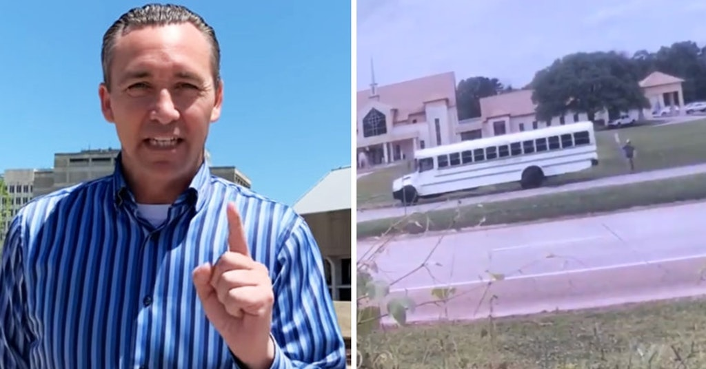 Pastor Tony Spell and his bus stunt
