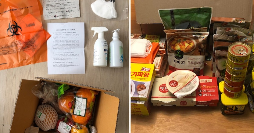 South Korean quarantine care packages