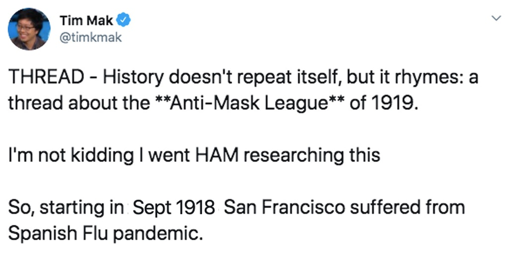 spanish flu anti-mask league