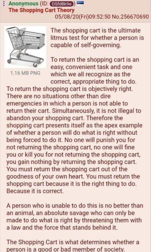 shopping cart theory