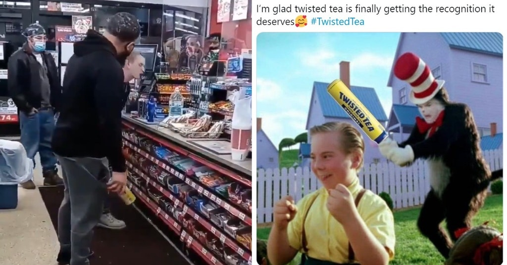 Man Slaps Racist Dropping The N Word With A Can Of Twisted Tea Gets Meme D