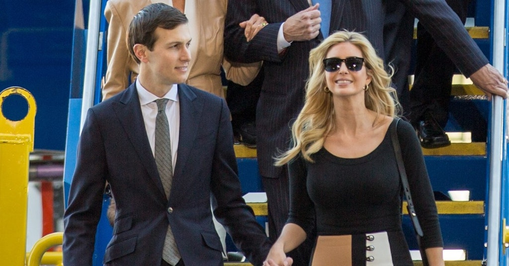 Jared Kushner and Ivanka Trump at the Boeing 787-10 rollout