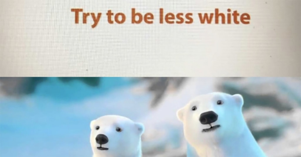 coca-cola hates white people try to be less white polar bears