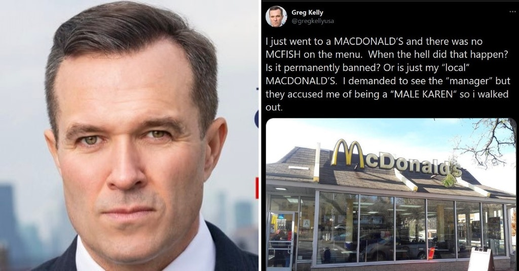 """Newsmax host Greg Kelly and tweet about """"MacDonald's"""" and the """"McFish"""""""