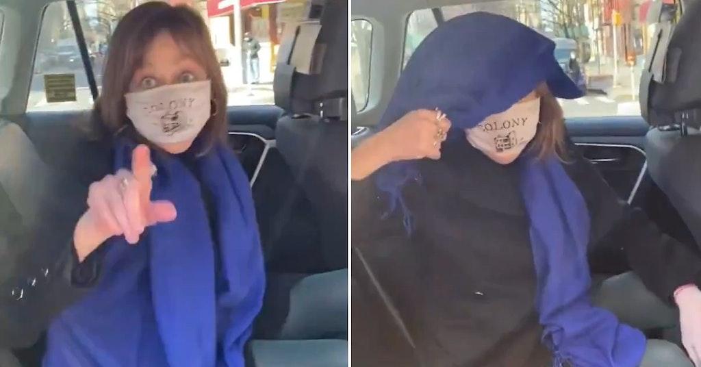 Maura Moynihan in a viral video showing anti-Asian racism