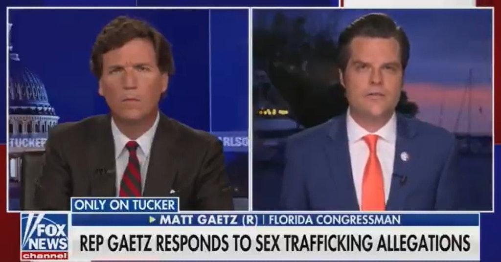 Rep. Matt Gaetz on Tucker Carlson's Fox News show