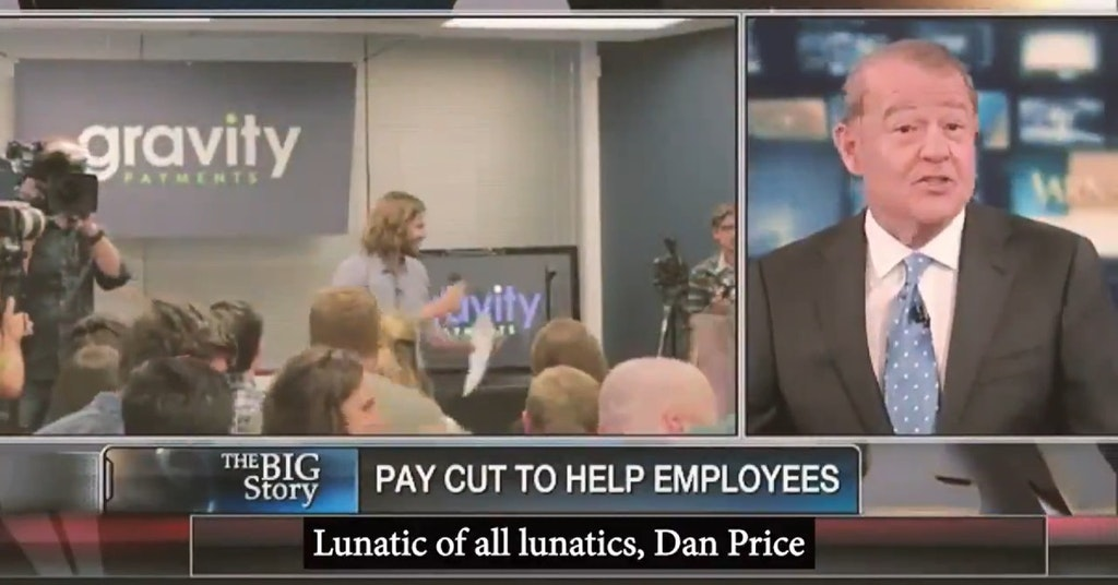 Stuart Varney on Fox News calling Dan Price a lunatic