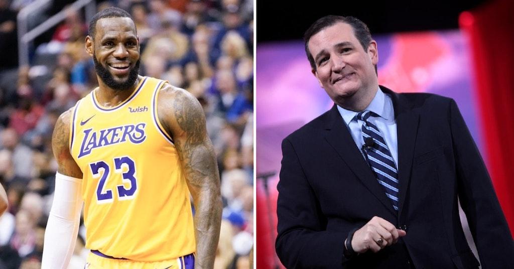 LeBron James and Senator Ted Cruz