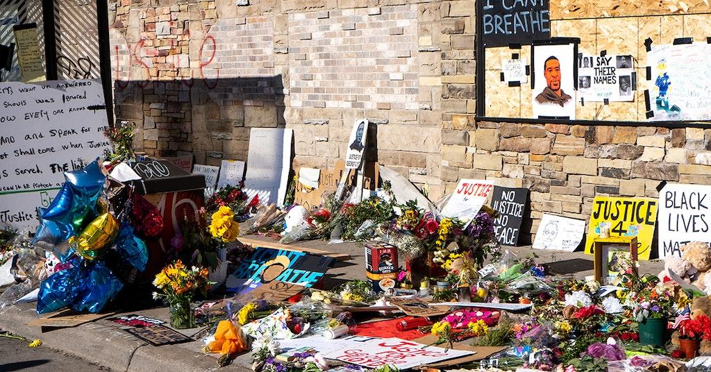 george floyd memorial destroyed