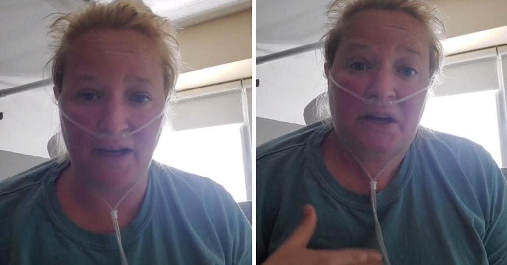 Shannon Christine Marie in a TikTok video filmed from a hospital room