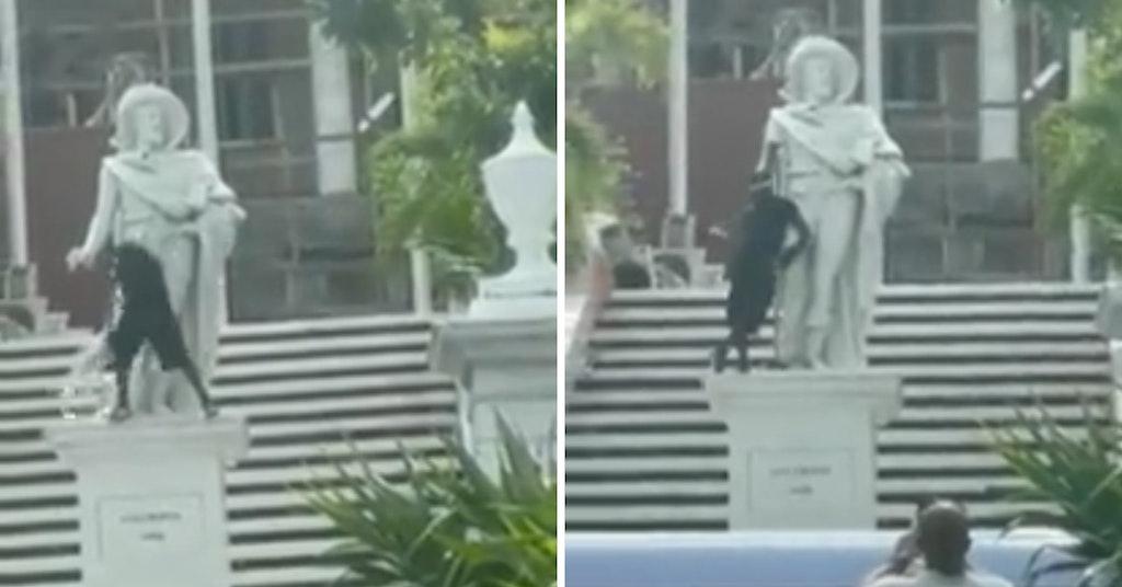 bahamas hammer christopher columbus statue