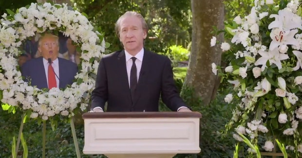 Bill Maher during his Trump eulogy sketch