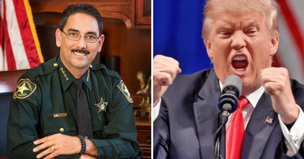 Sheriff Billy Woods and angry Donald Trump