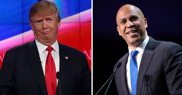 Donald Trump and Cory Booker