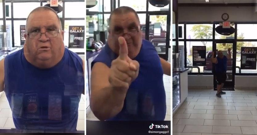 Angry Metro PCS customer yelling at employees