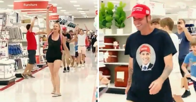 Anti-masker protest in a Target store