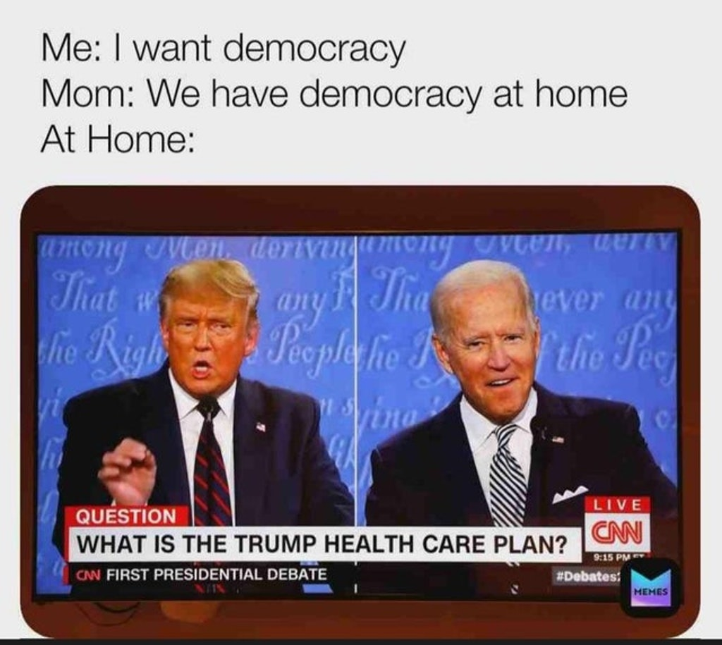 The 2020 Trump V Biden Presidential Debate Memes Are In