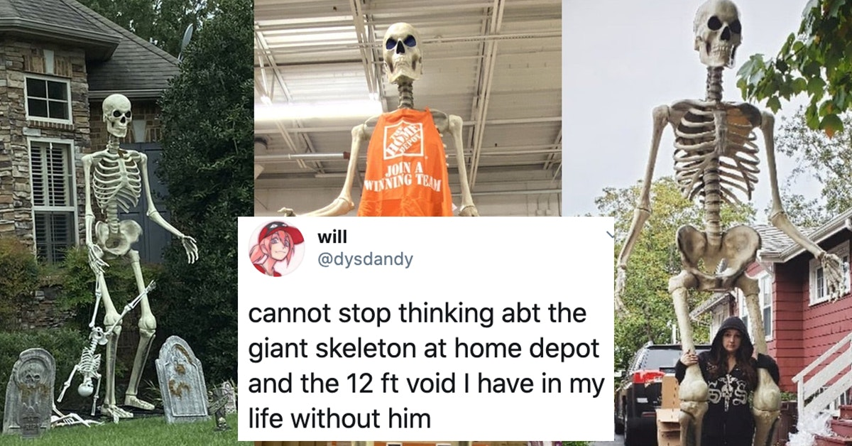 People Love This Massive 12 Foot Skeleton From Home Depot