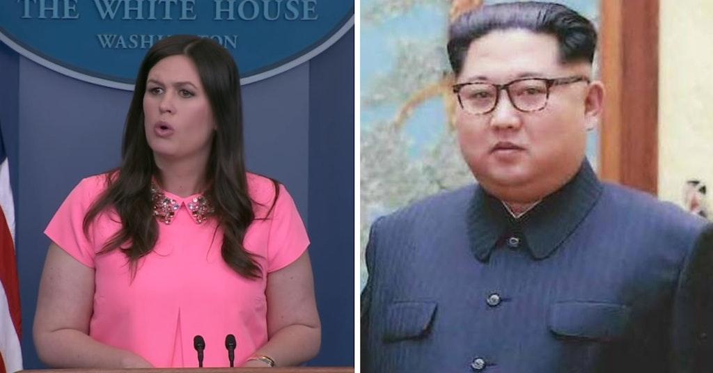 Sarah Huckabee Sanders and Kim Jong-un
