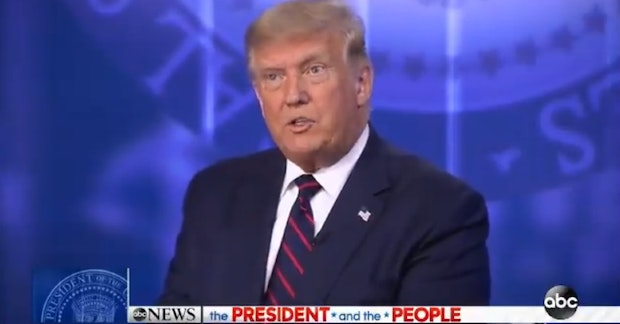 Donald Trump at the ABC News town hall