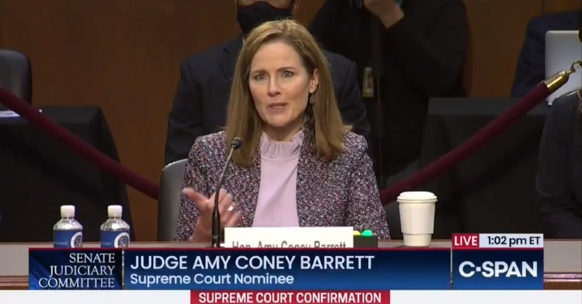 Amy Coney Barrett unable to name all the rights guaranteed by the First Amendment