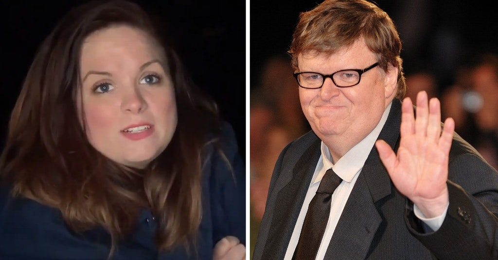 Blaire Erskine and Michael Moore
