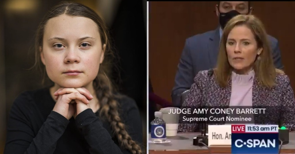 Greta Thunberg and Amy Coney Barrett